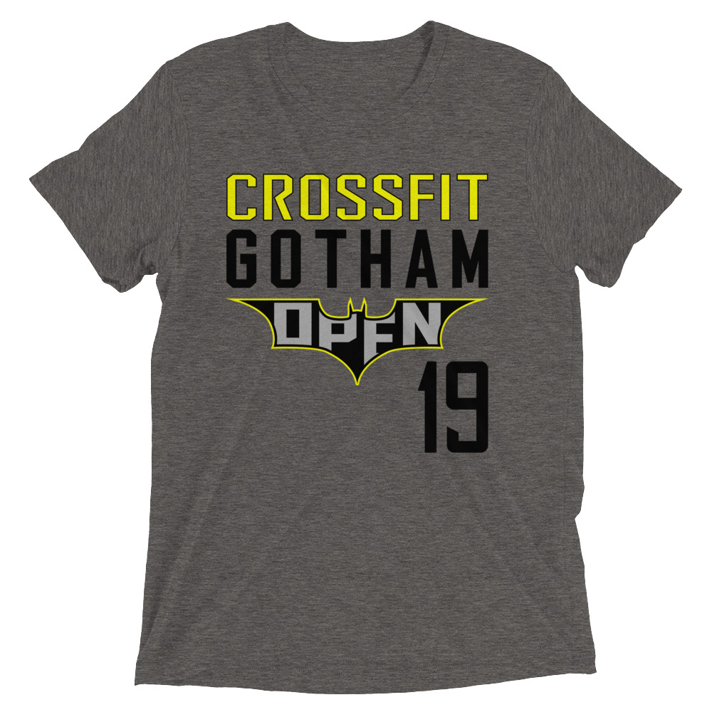 1648a46f Crossfit Gotham 2019 Open Short Sleeve Tri-Blend T-Shirt - NEW U ...